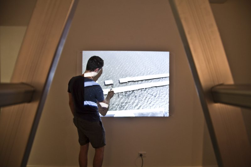 Torrent, 2012. Performed in '13.0.0.0.0' at Paper Plane Gallery. Image credit: Ella Condon