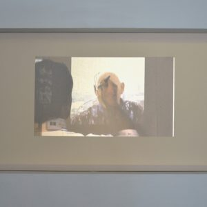 Process Video – Chris Ross #17, rear-projected digital video, stretched canvas, dimensions variable, 2011