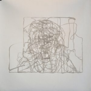 Chris Ross #15 – 16:46, ink on primed canvas, dimensions variable, 2011