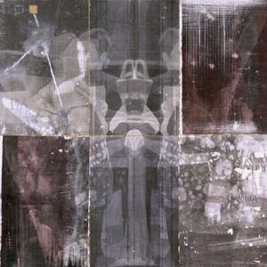 Monitors, mixed media on paper and found material, dimensions variable, 2010